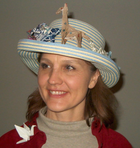 Christine Petrell Kallevig's Fabric origami hat band